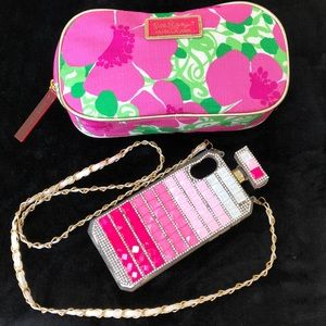 Lilly Pulitzer Cosmetic Bag, Cell Phone Case